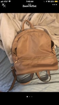 brown and black leather backpack Hyattsville, 20783