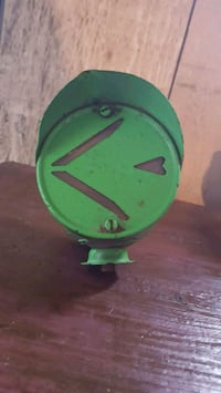 Vintage Antique Traffic Light with Arrows on Both Sides.