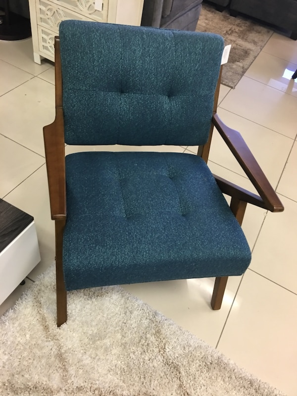Brand New Wayfair Midcentury Upholstered Wood Accent Chair 1 In