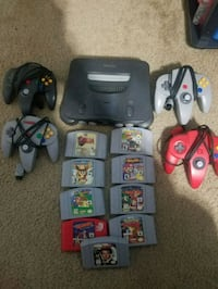Nintendo 64 console with controller and game cartridges Woodbridge, 22193