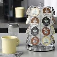 Nifty K-Cup /coffee pods spinning carousel holder in Chrome. Warren, 44483