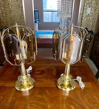 A PAIR OF GOLD PLATED TABLE LAMPS Mississauga, L5K 1G8