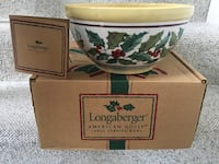 Longaberger American Holly Large Serving Bowl - Used Once!