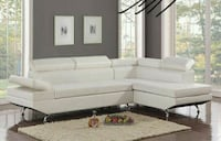 -Moderno White Sectional   Houston