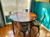 Wood and metal dining table and chairs  Laurel, 20707