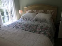 Beautiful headboard, queen size Sealy mattress and bed frame Pound Ridge, 10576