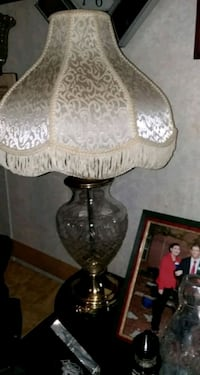 brown and white table lamp 264 mi