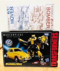 Hasbro Transformers MasterPiece Bumblebee 2017 & Japan Bomber & Hover