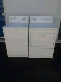 white top-load washer and dryer set Fort Worth, 76112