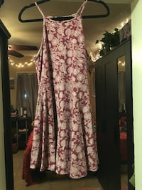 pink and white floral sleeveless dress San Diego