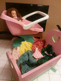 Doll stroller, bed, clothes and bed Missouri City, 77489