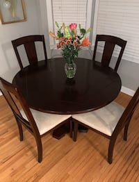 Dining/Poker table including 4 chairs