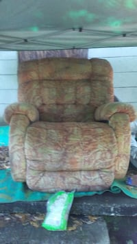 brown and gray fabric sofa chair Charleston