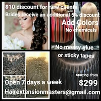 Professional traveling hair extension services Silver Spring, 20905