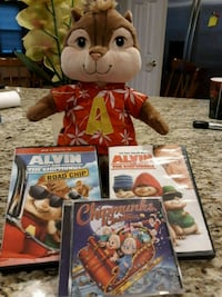 Alvin Plush and DVDs/CD Waldorf, 20603