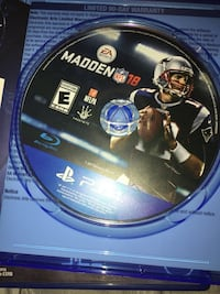 Madden nfl 18 ps4 game disc Mill Hall, 17751