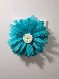 3 D feather flower on a canvas wall art, brand new, baby blue colour  Mississauga, L5M 0A5
