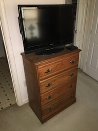 brown wooden TV stand with flat screen television Germantown, 20874