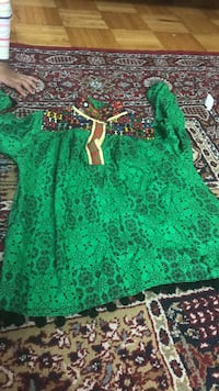 green and brown floral dress 550 km
