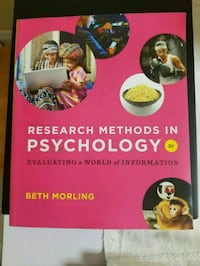 Research Methods in Psychology: Evaluating a World Toronto, M9B 5S7