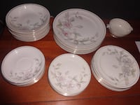 Vintage Meito Ivory China 33 Pc, Spring Time Pattern, Made in Occupied Japan RICHMOND