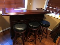 Brown american heritage bar with three stools Upper Marlboro