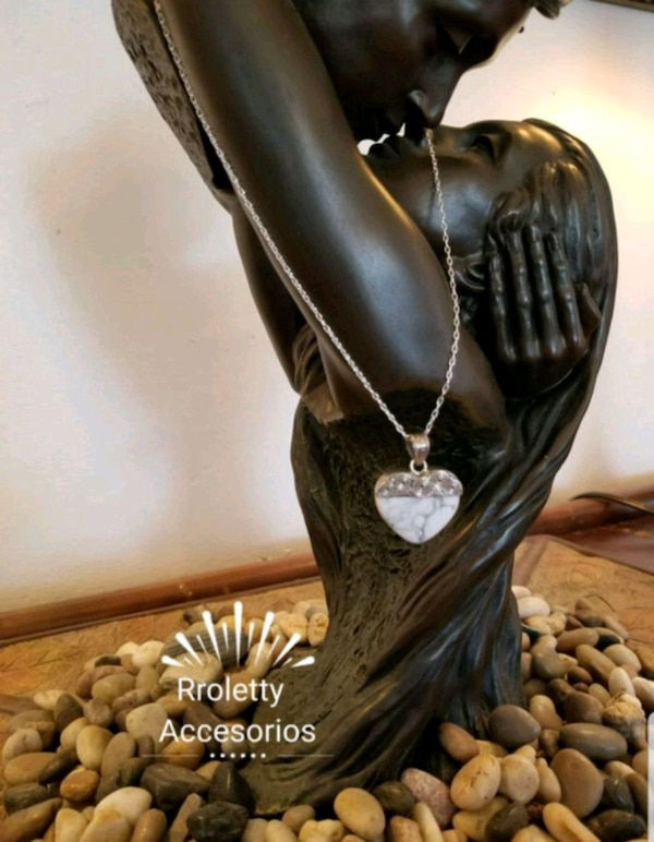 1acfc43dc51b Used Sterling silver 925 necklace with a stone heart. for sale in Pico  Rivera - letgo