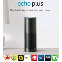 NEW AMAZON ECHO PLUS – BLACK  RETAIL VALUE:$200  Toronto, M1X 1W1
