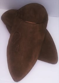 Men brown Moroccan Handmade 100% Leather Slip on Shoes Sz 9-9.5*10(41)