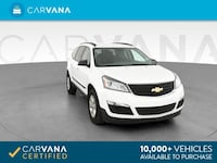 2017 Chevy Chevrolet Traverse suv LS Sport Utility 4D White Brentwood