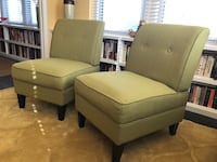 Green upholstered accent chairs Washington, 20009
