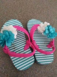white, pink, and blue knitted sandals Anderson, 96007