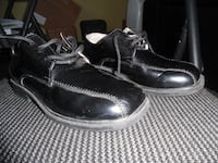Boys leather shoes (laces + velcro) MONTREAL
