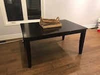 Dark wool dining room table with leaf  Pickering, L1X 0B2
