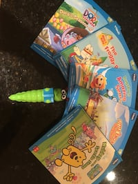 Vtech bugsby reading system.  5 books with cartridges and bugsby pen included Norwalk, 06851