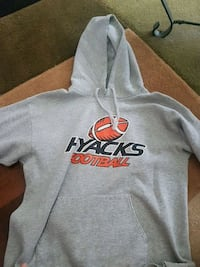 gray and orange hyacks pullover hoodie New Westminster, V3L 4C5