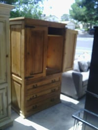 brown wooden armoire Las Vegas, 89110