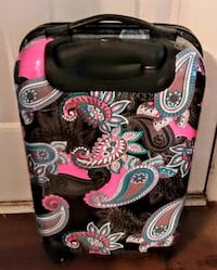 Lightweight Durable Hard-Shell Upright Carry-on with Paisley Design - Like New