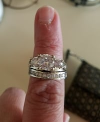 Cubic Zirconia and Sterling Silver ring size 8 Casper, 82604