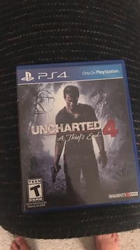 Uncharted 4 PS4 game case Selah, 98942