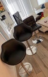 Bar stool set (3) - Black Hollywood