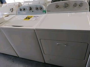 WHIRLPOOL, top load washer and gas dryer set