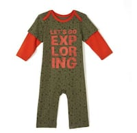 NEW Baby boy romper and shirt and tee set