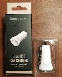 Brookstone dual USB car charger. New/boxed. Arlington, 22209