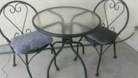 round black metal framed glass top table Las Vegas, 89147