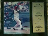 Ken Griffey Junior Collectible Marble Plaque