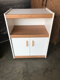 Microwave portable storage cabinet