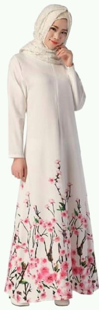 Muslim women floral long sleeve abaya dress Ottawa, K2M 0J7