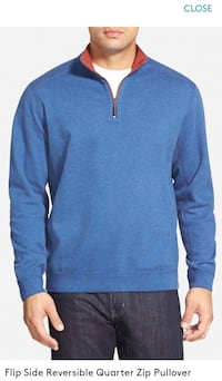 Flipsider Reversible Quarter-Zip Pullover TOMMY BAHAMA, brand new with tag! Men's S  Lexington, 02420