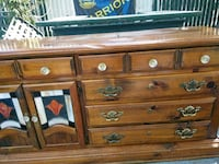 Antique dresser Crystal knobs stained glass $100 Stockton, 95206